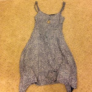 Ladies navy and white brandy Melville dress OS
